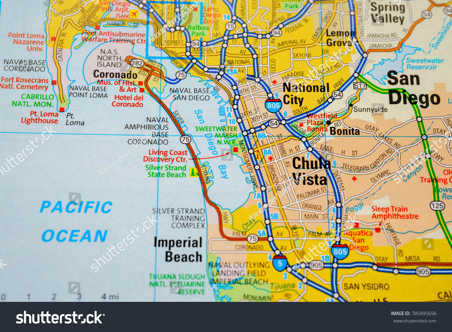 San Diego USA Map Stock Photo (Edit Now) 785495656 - Shutterstock