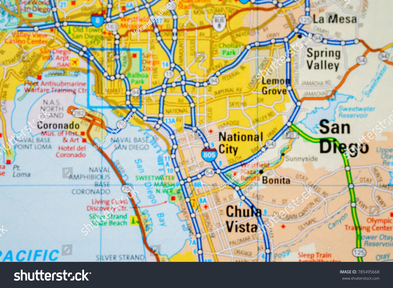 San Diego. USA map | EZ Canvas