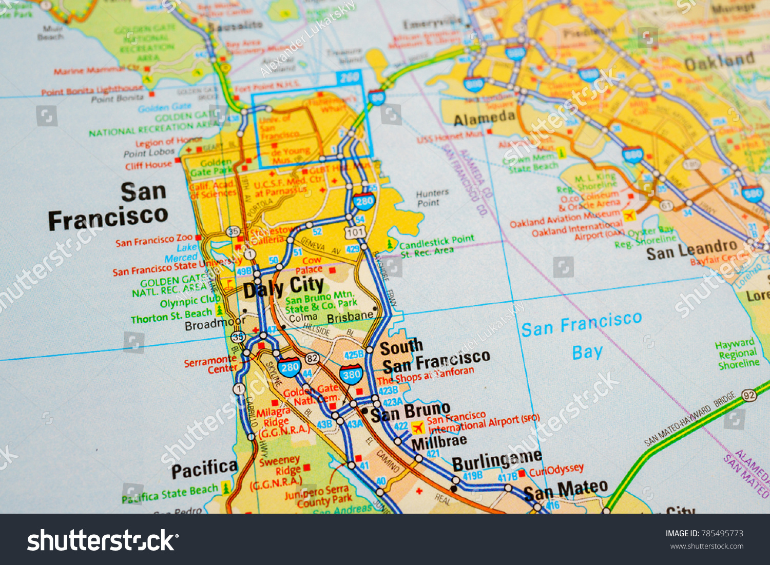 San Francisco Map In Usa San Francisco