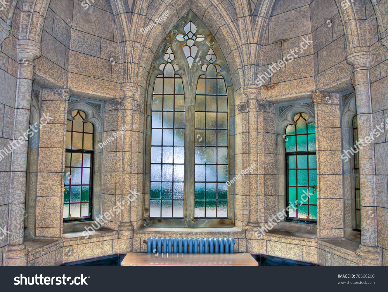 Hdr Image Old Architectural Windows Building Stock Photo - Building architectural windows