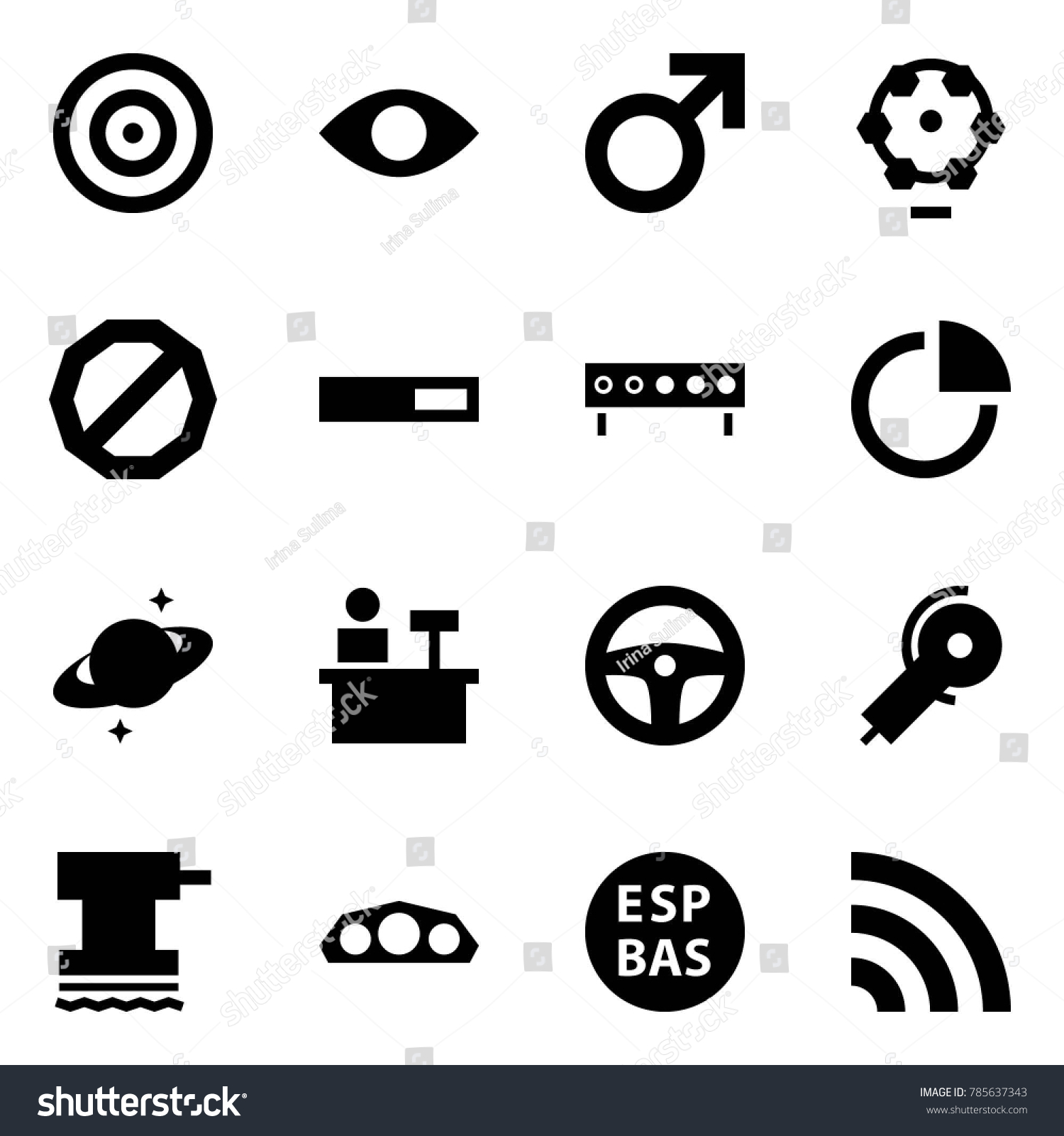Origami Style Icon Set Target Vector Stock Royalty Free Saturn Wheel Diagram Eye Male Sign Ferris