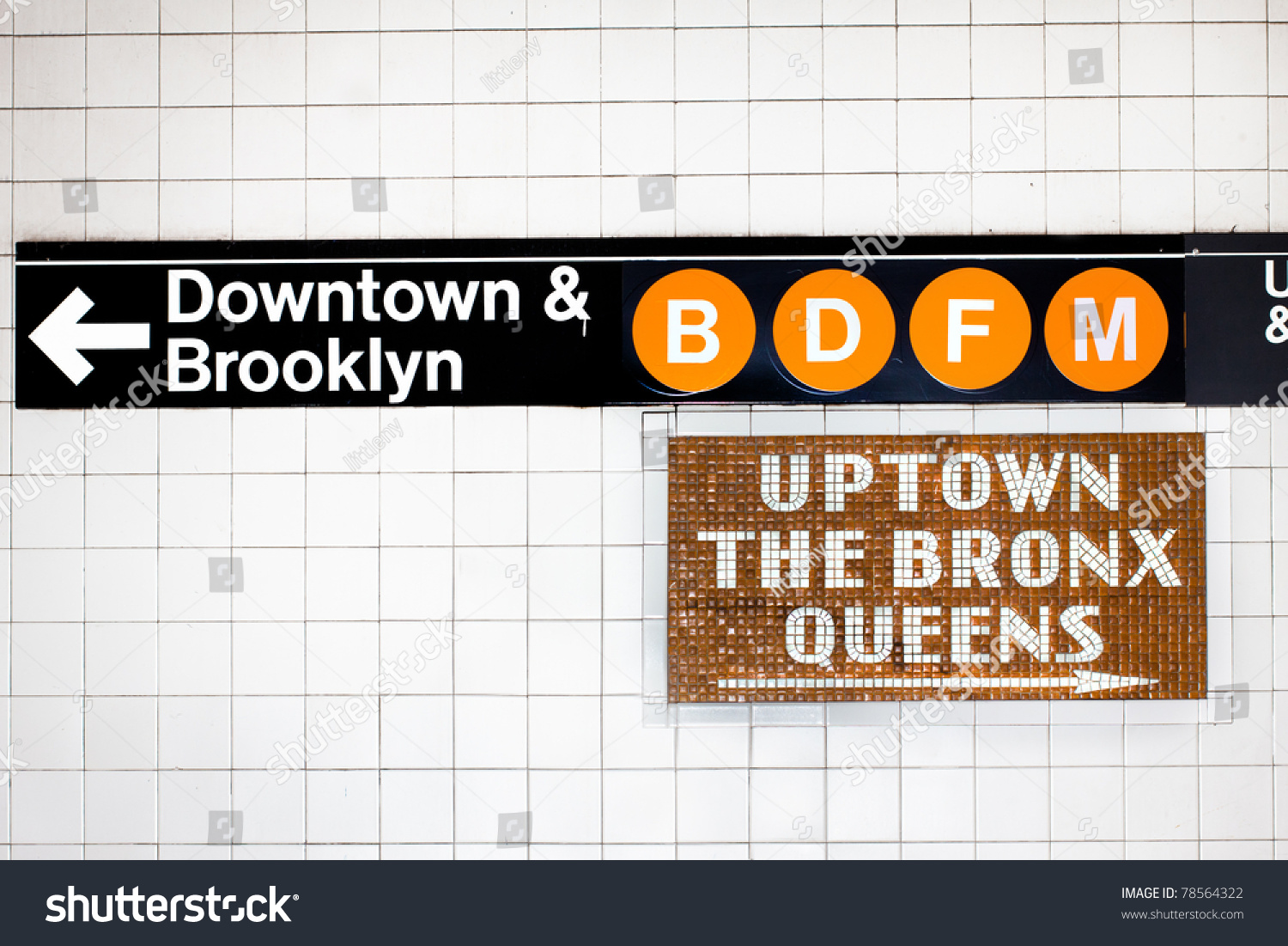 New York City Subway Sign Stock Photo Edit Now 78564322 Shutterstock