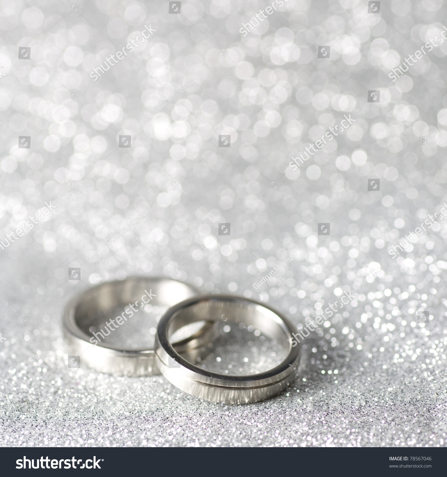 Wedding Rings On Silver Background Stock Photo Royalty Free