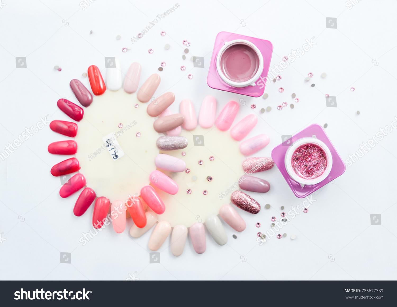 Nail Color Tips Zircons Stock Photo & Image (Royalty-Free) 785677339 ...