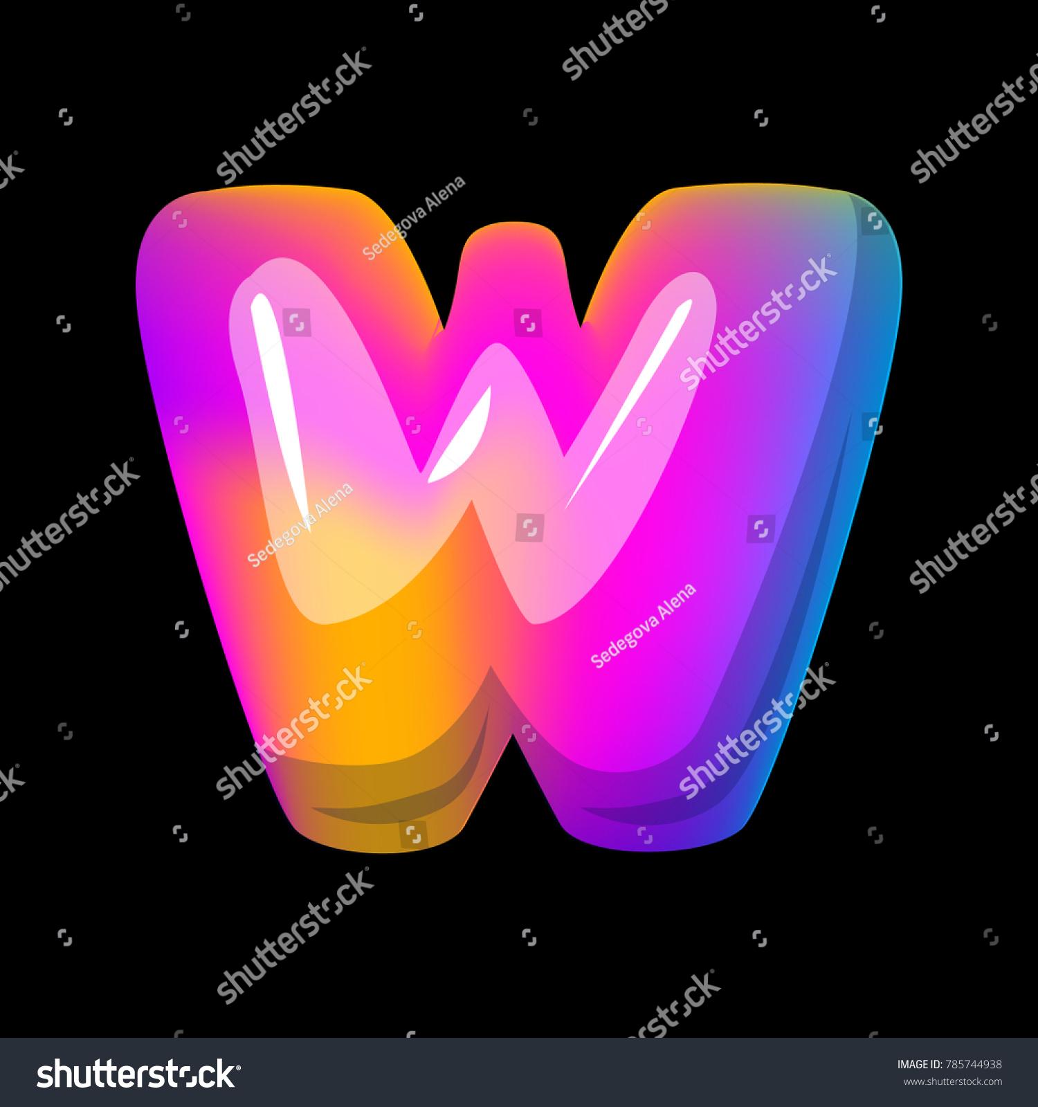 Vector Colorful Curvy Liquid 3 D Volumetric Stock Vector (Royalty ...