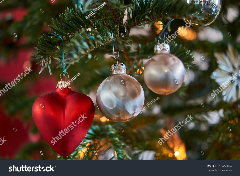 Christmas Tree Christmas Decoration Nordmann Fir Stock Photo (Edit ...