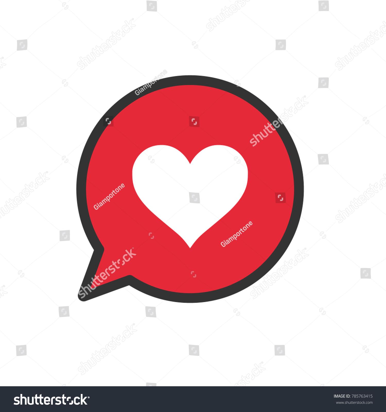 Heart icon bubble speech love symbol stock vector 785763415 heart icon in bubble speech love symbol social media like buycottarizona