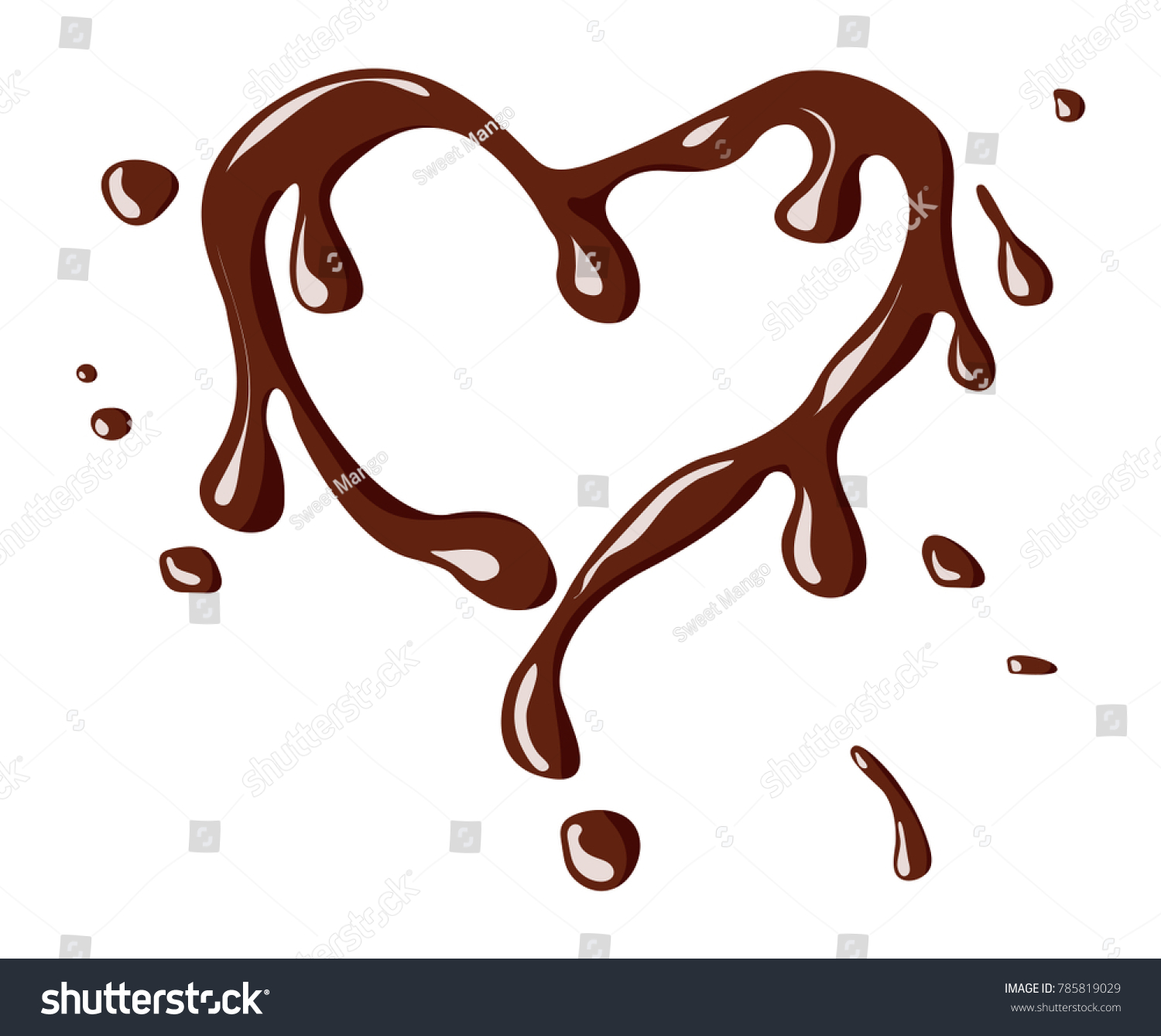 heartshaped chocolate splash isolate on white stock vector royalty free 785819029 https www shutterstock com image vector heartshaped chocolate splash isolate on white 785819029