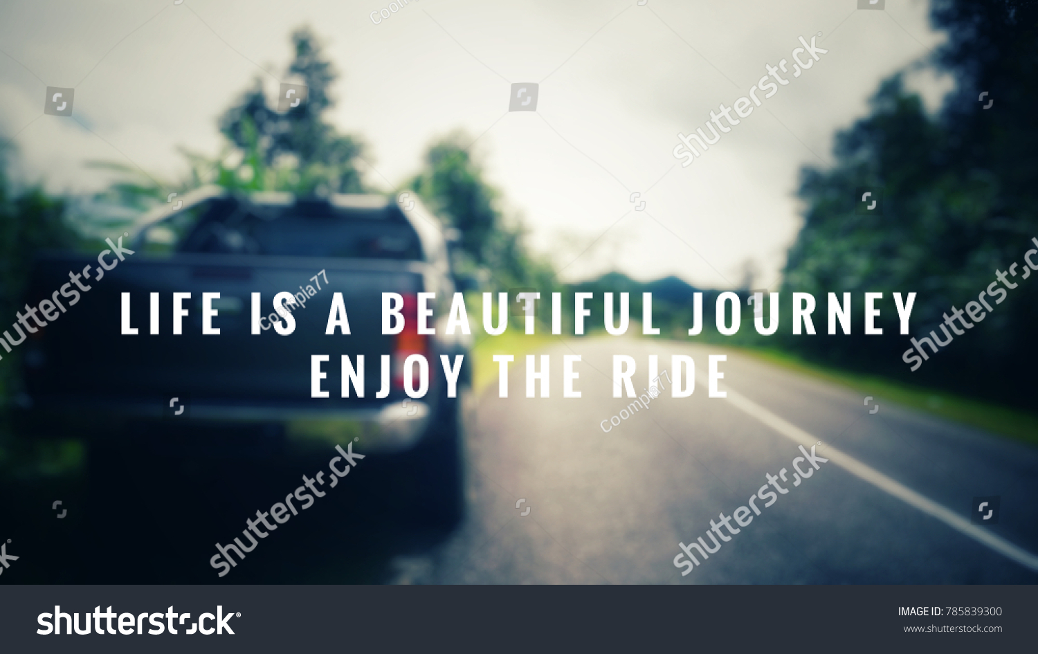 Quotes Journey Motivational Inspirational Quotes Life Beautiful Journey Stock