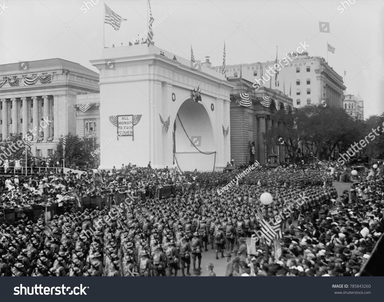 World War 1 Victory Parade Passing Stock Photo (Royalty Free ...