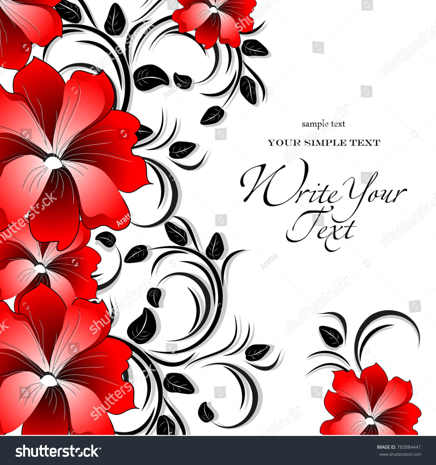 wedding card or invitation with abstract floral background elegance pattern with flowers abstract greeting