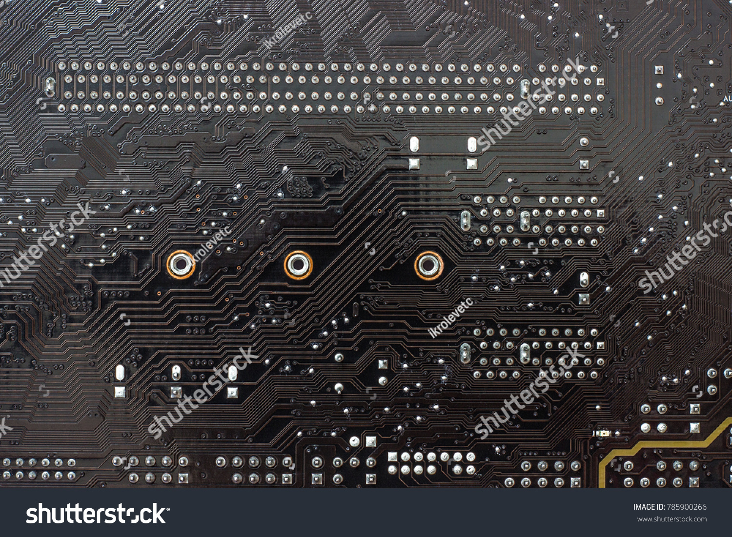 Fragment Chips Motherboard Mainboard Background Printed Stock Photo The Main Circuit Board Of A Computer Is Or As Basis