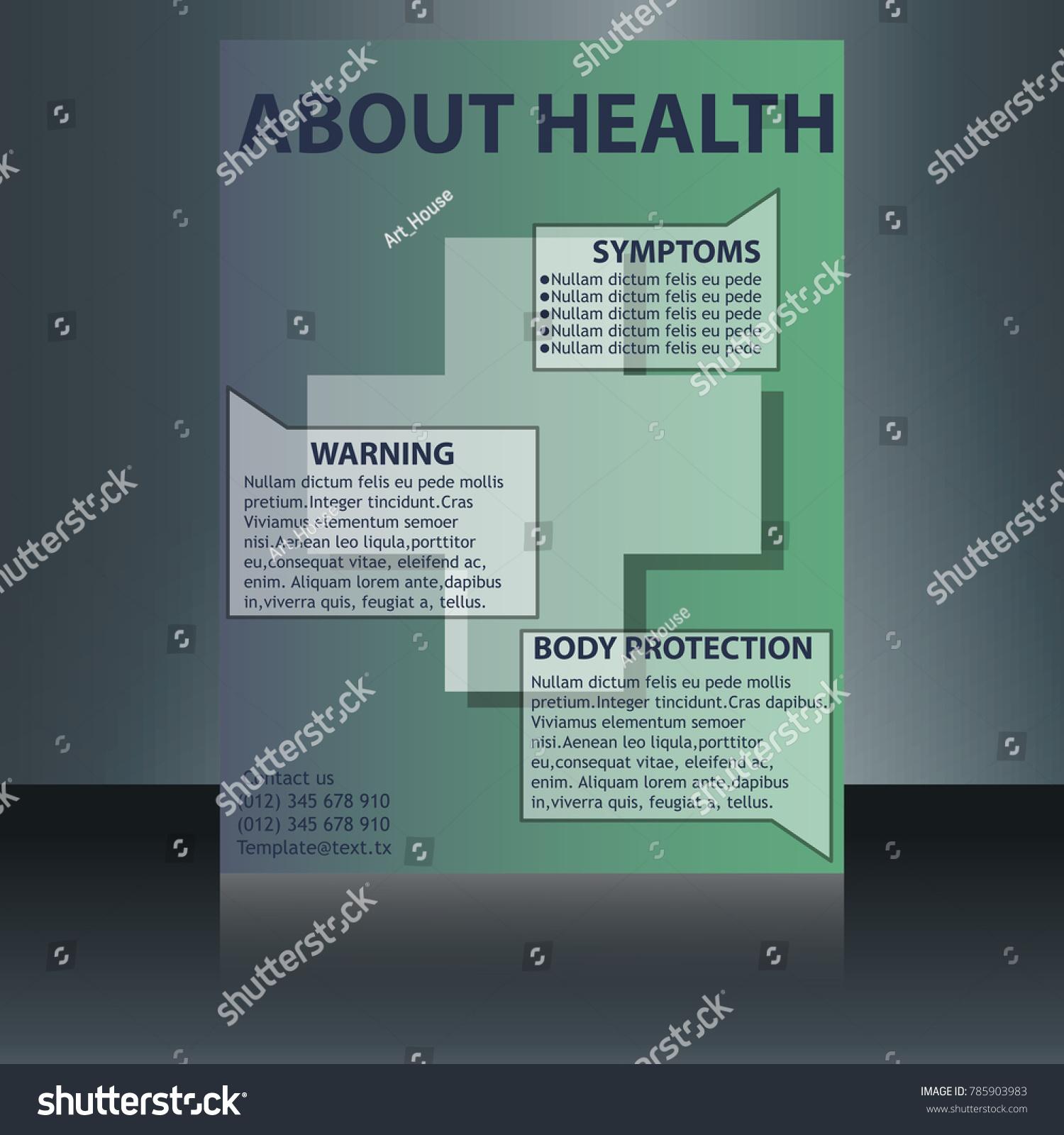 medical brochure flyer design template a 4 stock vector royalty