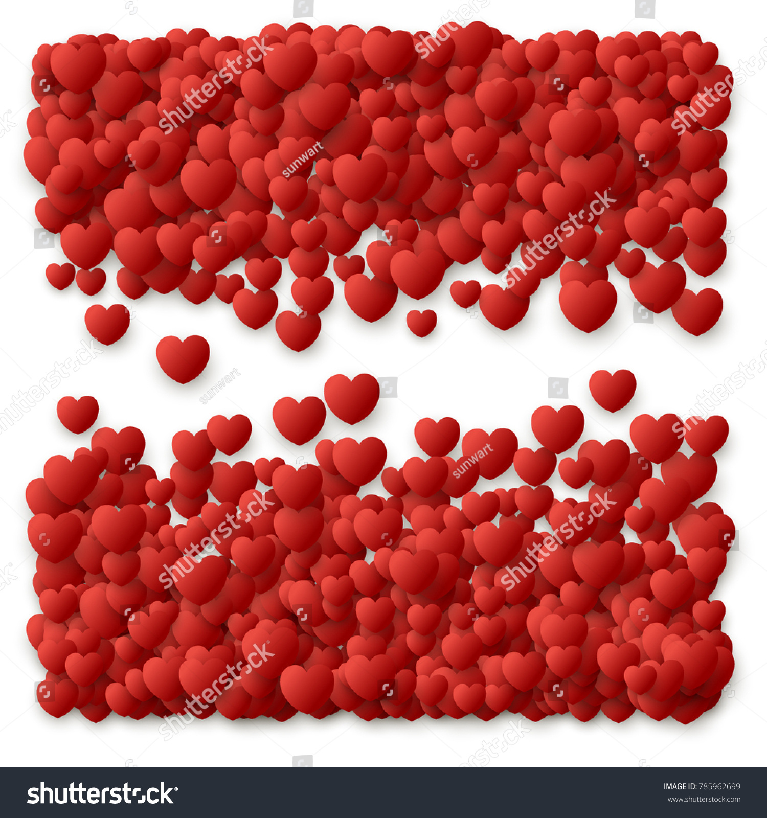 Heart love symbol border valentines day stock vector 785962699 heart love symbol border for valentines day red hearts flying confetti background border for biocorpaavc