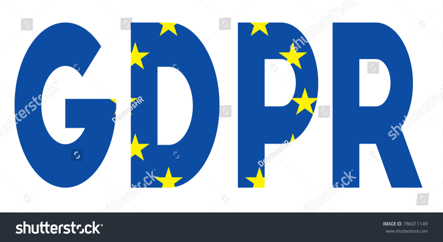 Word Gdpr With Elements Of The European Union Flag Il Rating Eu Law On