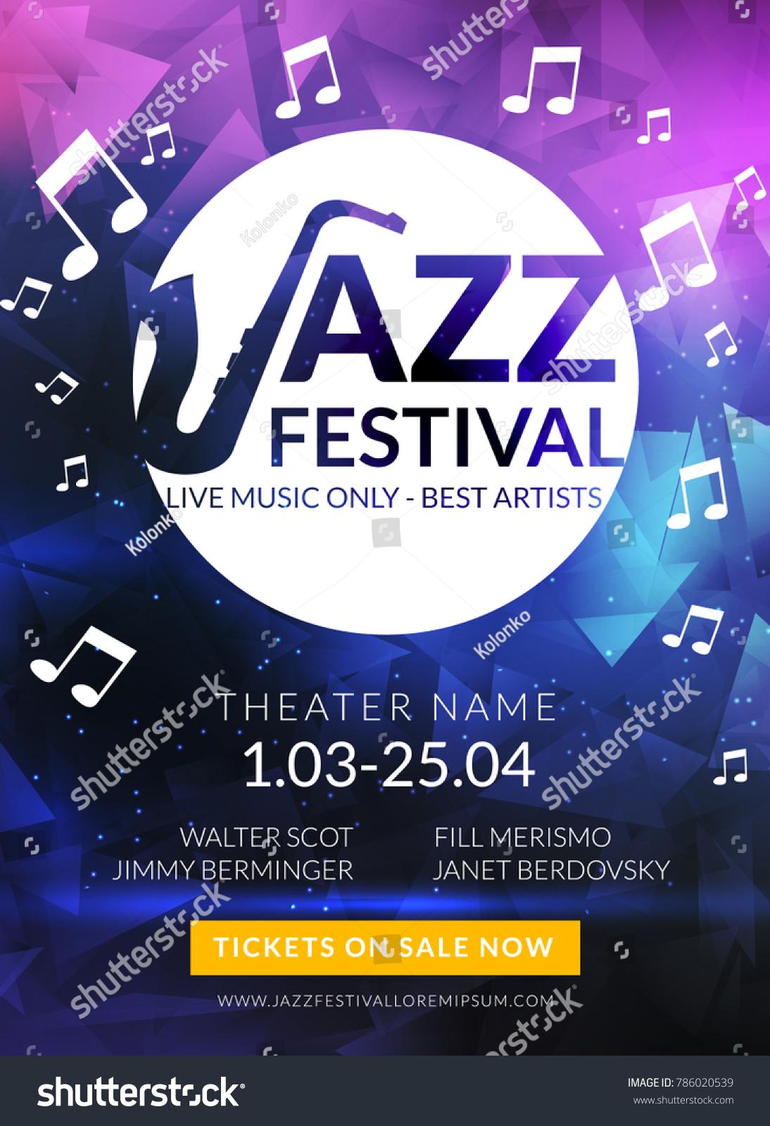 Vector Musical Flyer Jazz Festival Music Stock Vector Royalty Free