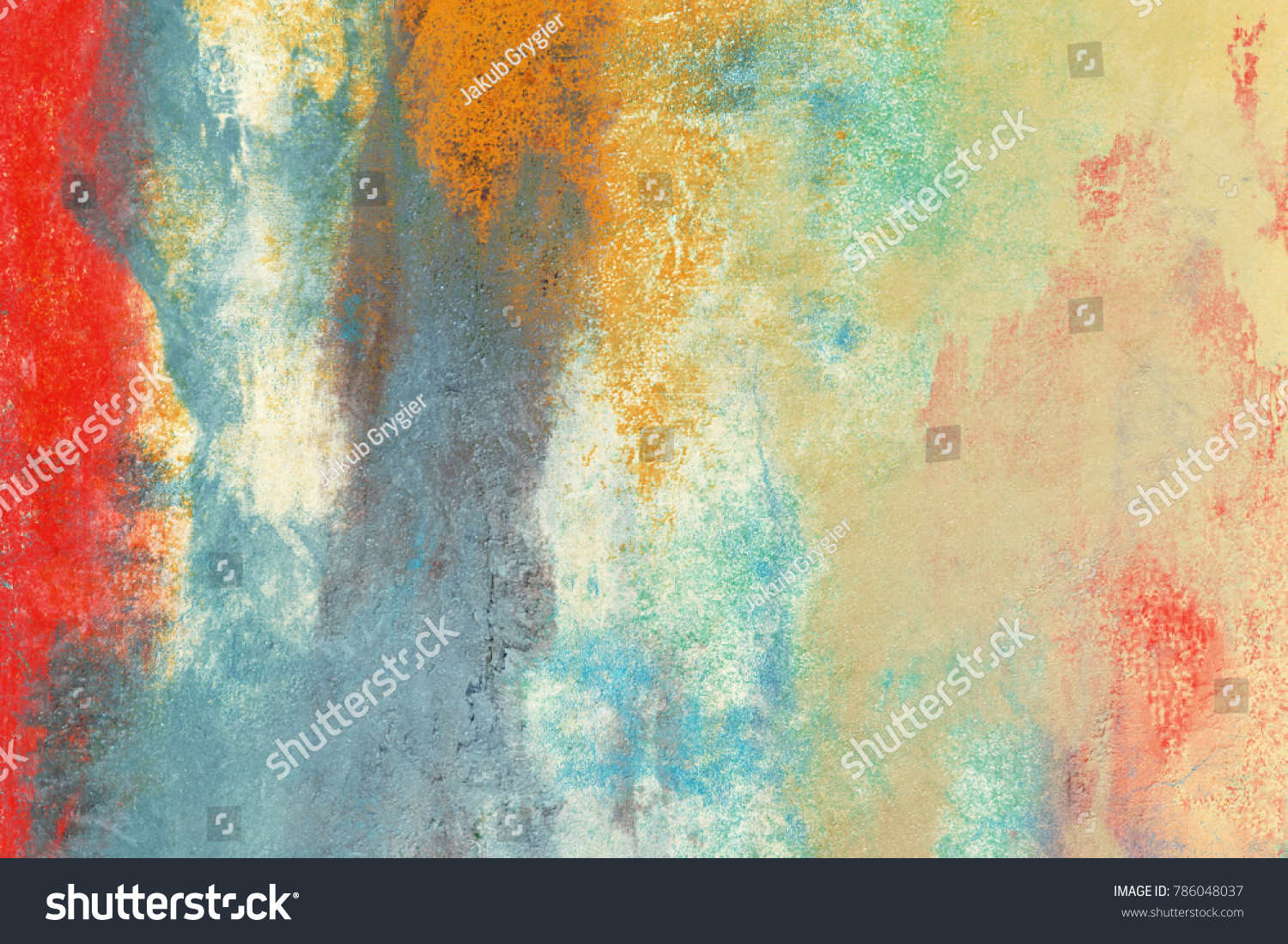 Wall Painting Handmade Abstract Art Texture Stock Illustration ...