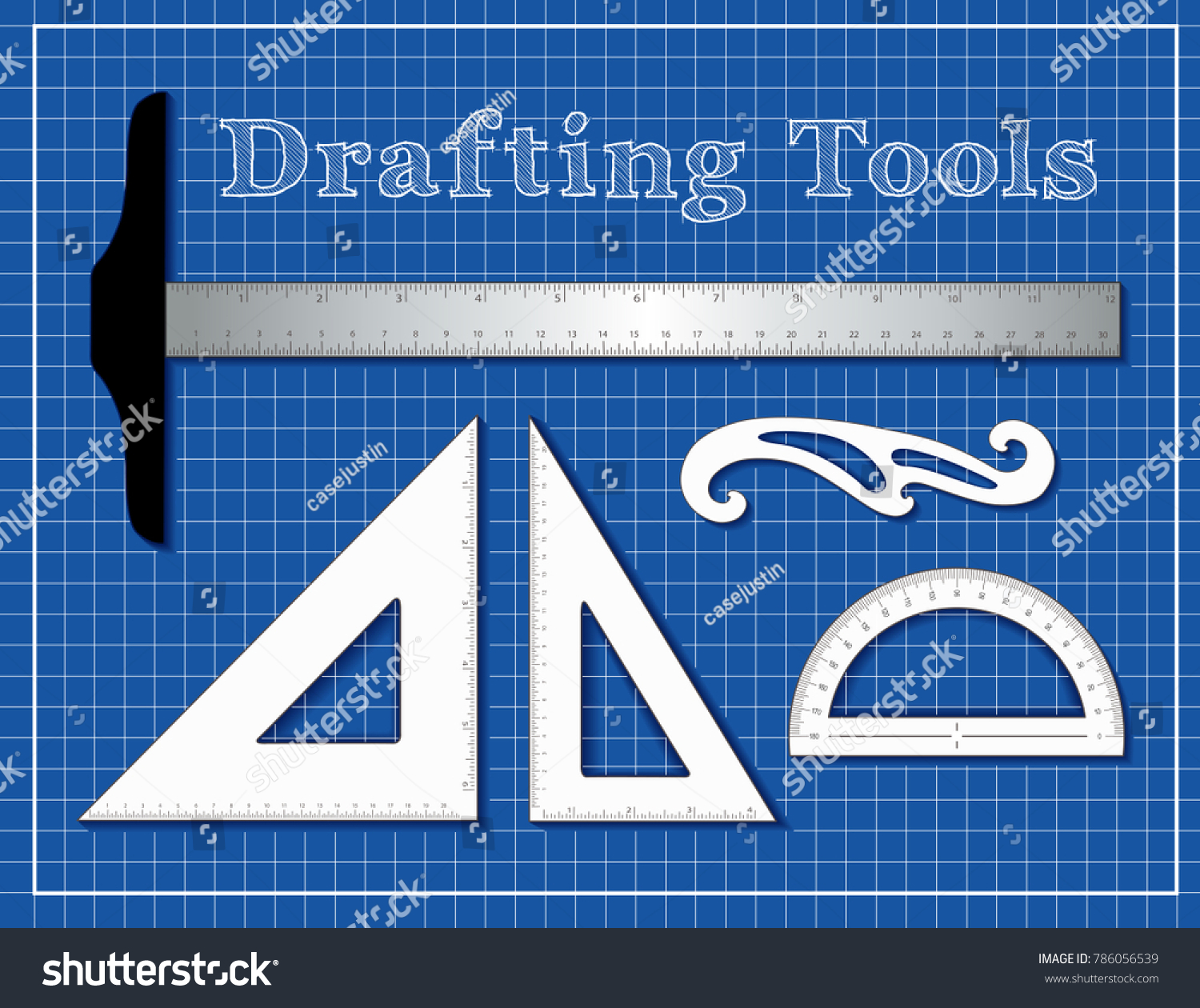 Drafting Tools STEM Architecture Engineers Science Stock ...