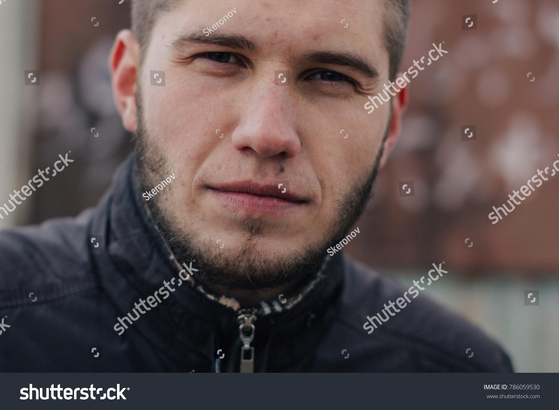 Young Brutal Man Short Haircut Beard Stock Photo Edit Now