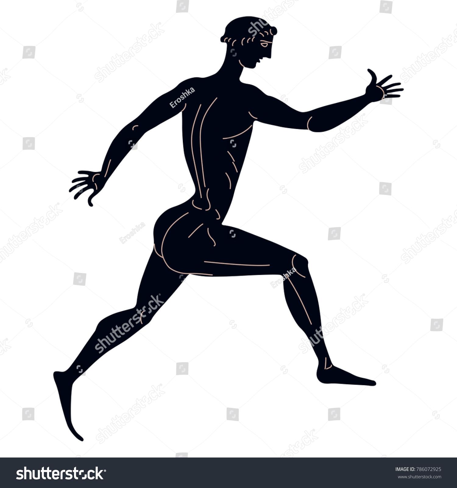 Isolated vector illustration ancient greek runner stock vector isolated vector illustration ancient greek runner based on classical black figure vase painting reviewsmspy
