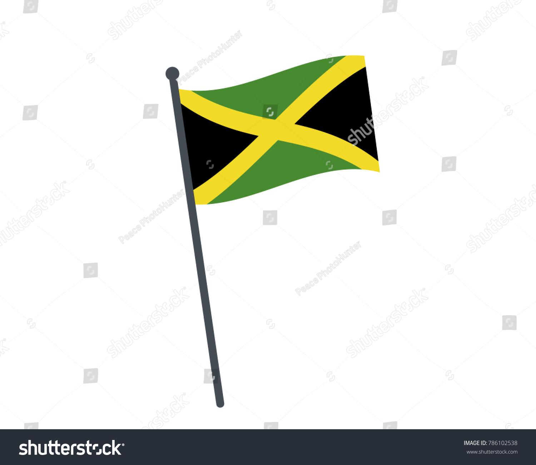 Jamaica Flag National Flag Jamaica On Stock Vector 786102538
