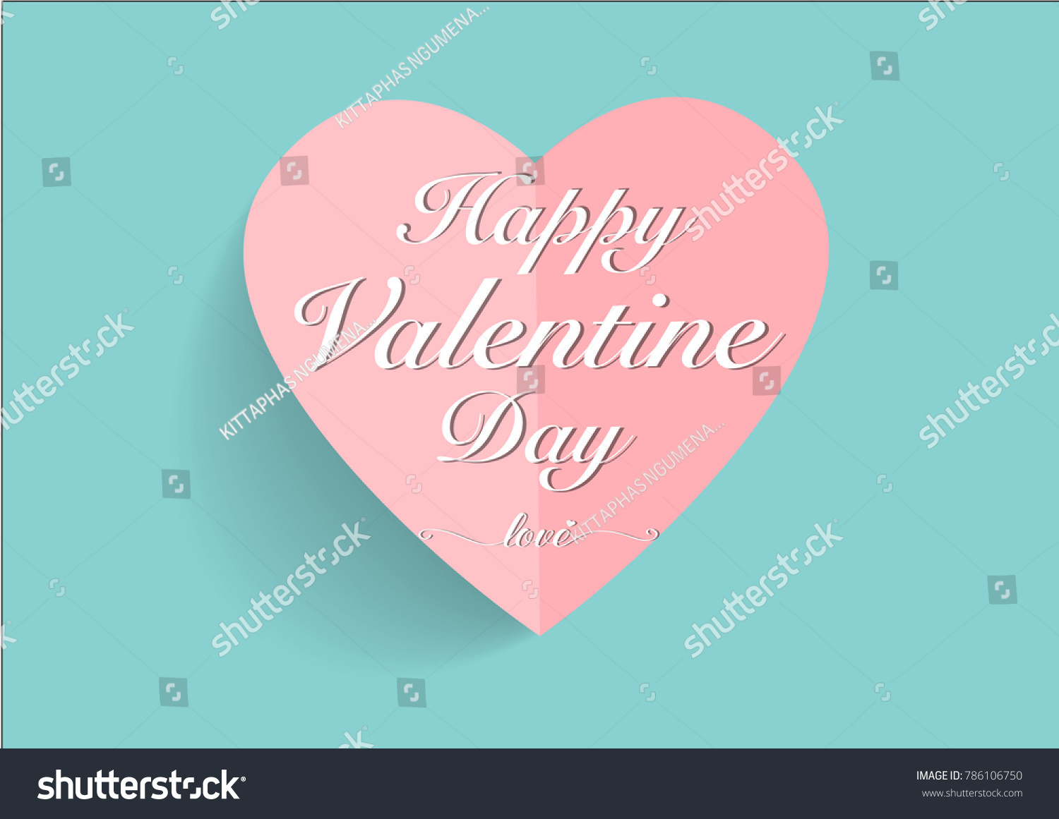 Happy Valentines Day Greeting Cards Stock Vector 786106750