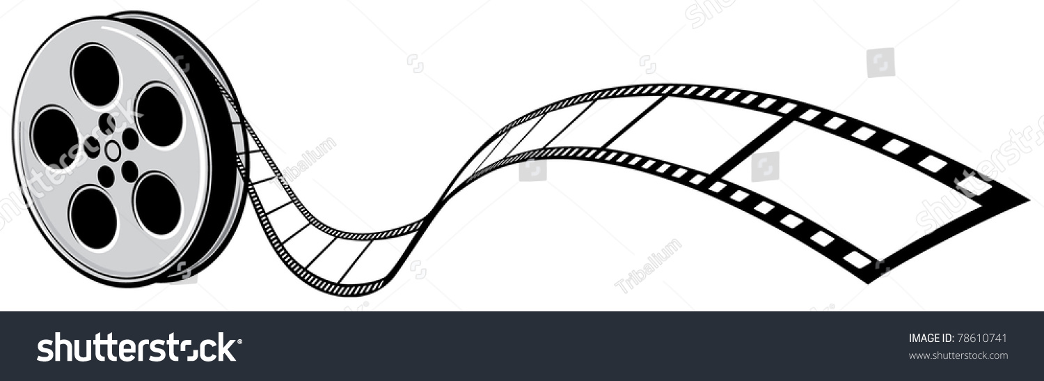 Cinema Projector And Film Strip Stock Vector Illustration