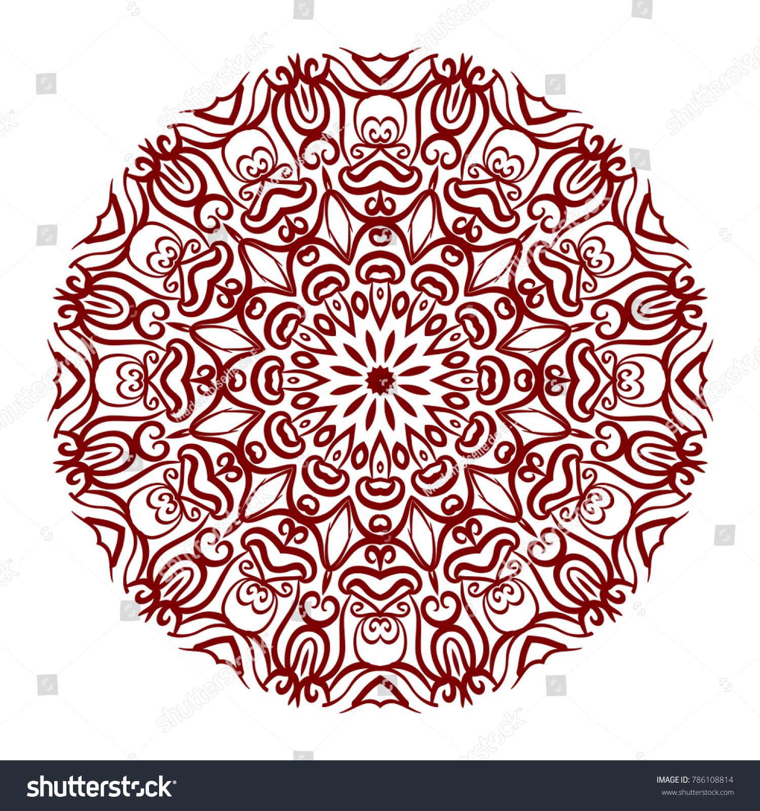 Abstract Flower Design Mandala Decorative Round Stock Photo (Photo ...