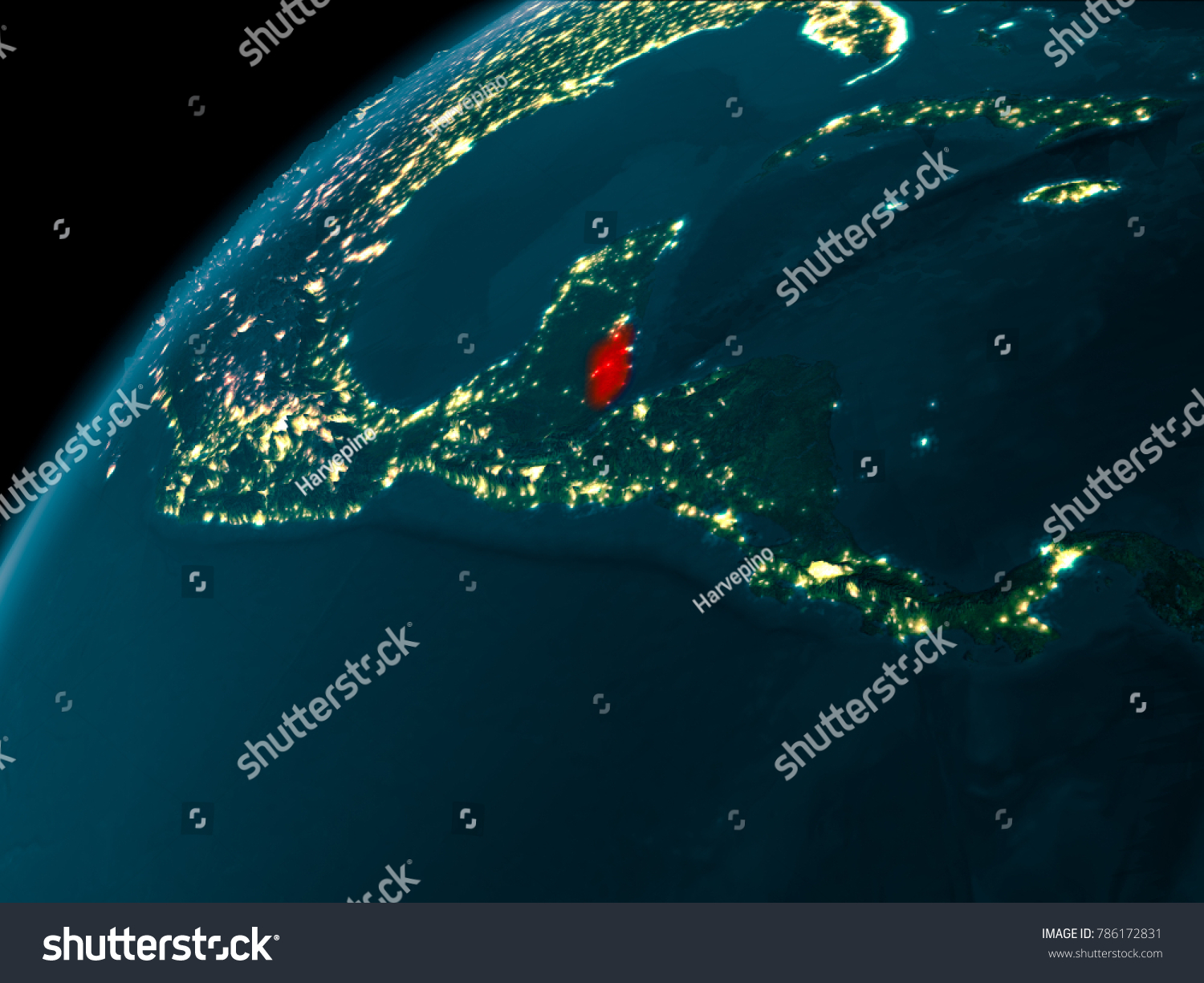 Night map belize seen space on stock illustration 786172831 night map of belize as seen from space on planet earth 3d illustration elements gumiabroncs Image collections