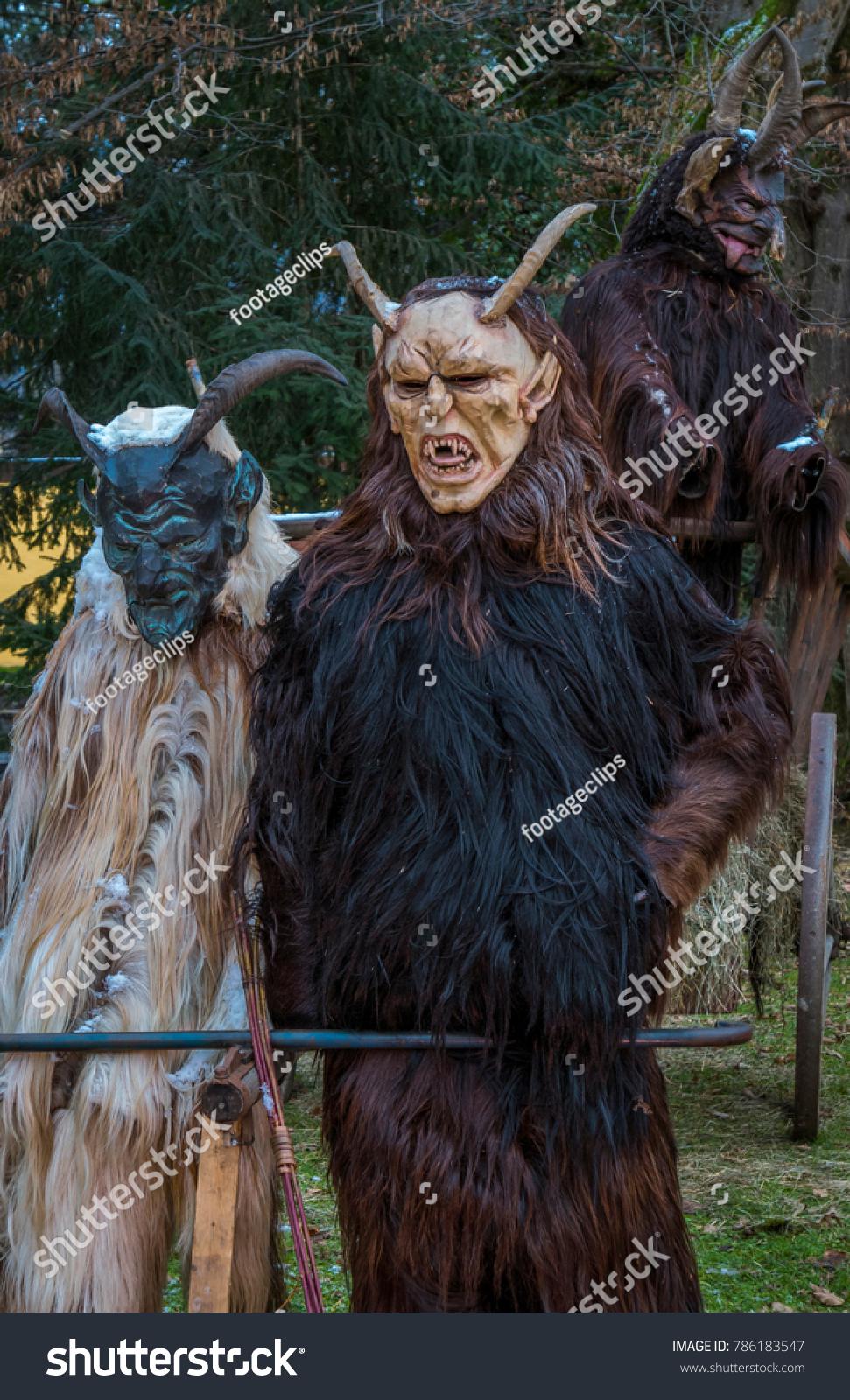 Krampus Devil Mask Carved Wooden Mask Stock Photo Edit Now 786183547