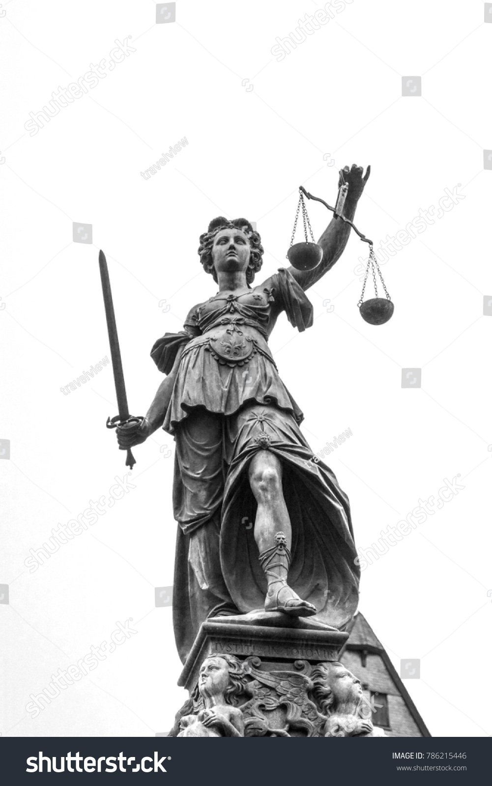 Lady Justice Symbol Law Frankfurt Germany Stock Photo Edit Now
