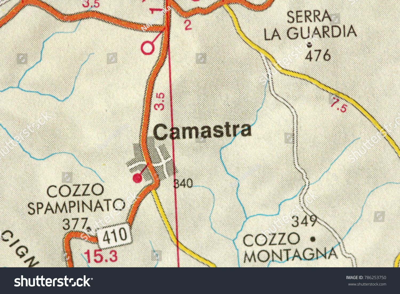 Camastra Map Islands Sicily Italy Stock Photo Edit Now 786253750