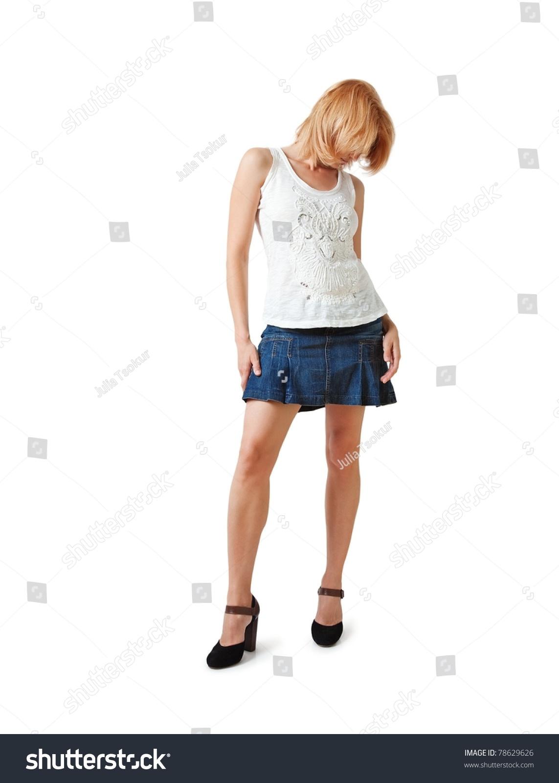 Women in short skirts high heels