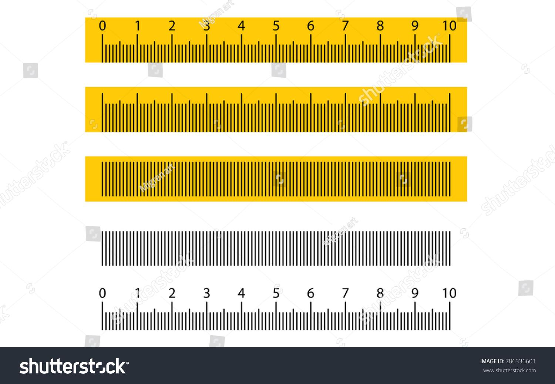 tape ruler metric measurement metric ruler stock vector (royalty