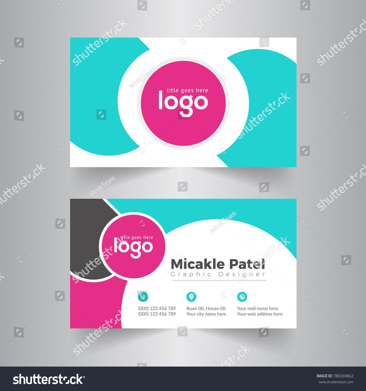 Circle Business Card Vector Design Stock Vector 786369862 ...