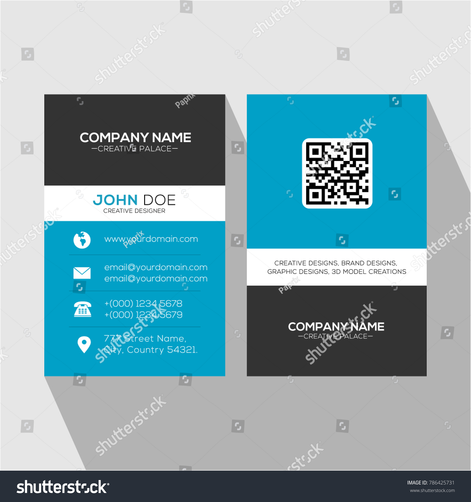 Blue professional multipurpose business card all stock vector blue professional multipurpose business card for all designations colourmoves