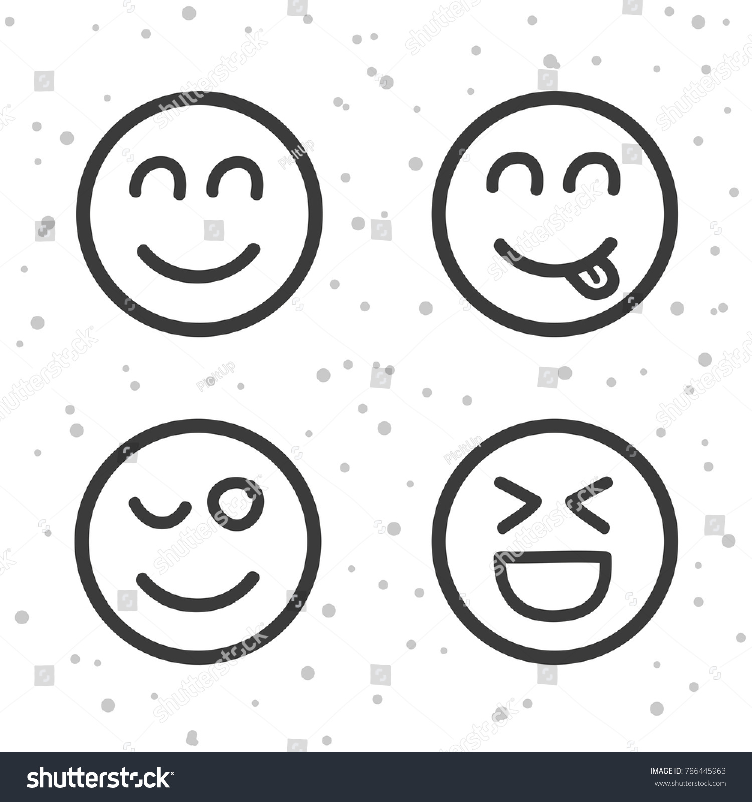 Happy smiley icons laughing emoticons symbols stock vector happy smiley icons laughing emoticons symbols buycottarizona Choice Image