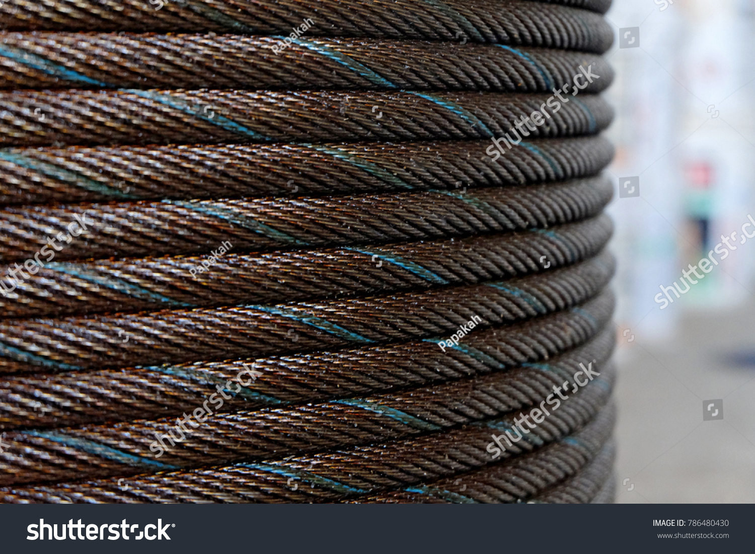 Tower Crane Wire Rope Sling Stock Photo (Royalty Free) 786480430 ...