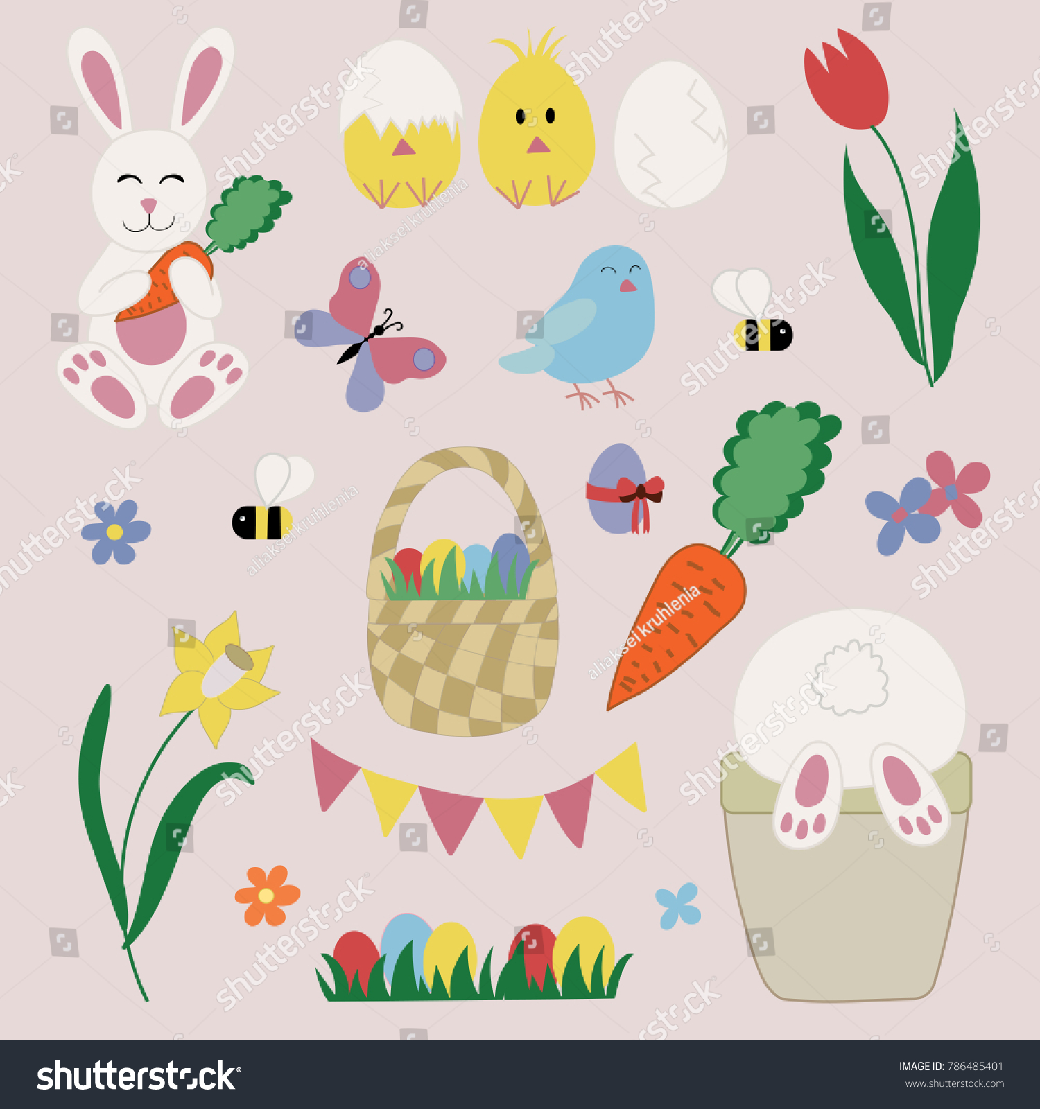 Easter symbols and traditions image collections symbol and sign easter icons set traditional festive symbols stock vector easter icons set with traditional festive symbols such negle Choice Image