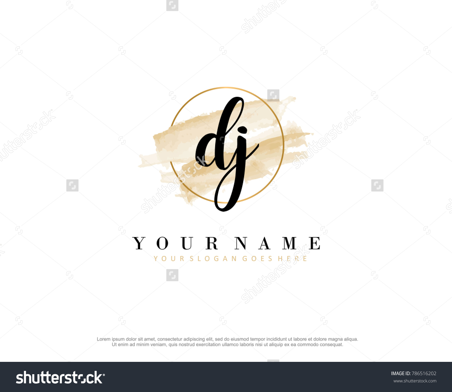 D J Initial Water Color Logo Stock Vector (Royalty Free) 786516202 ...