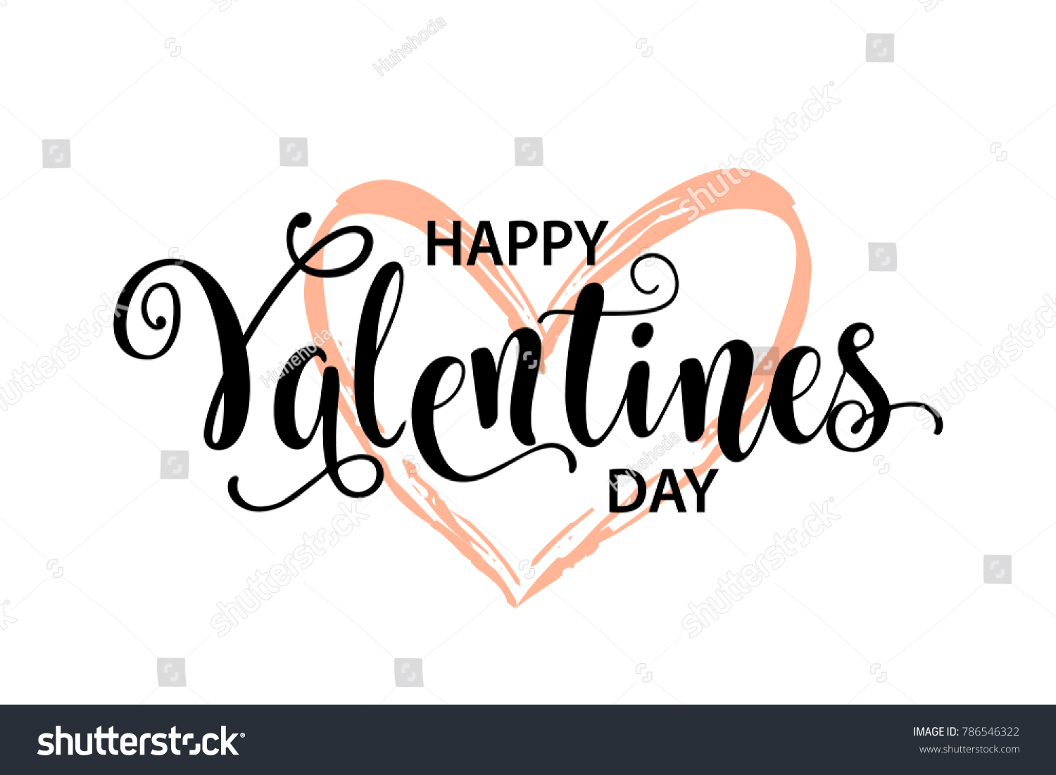 Happy Valentines Day Card Beautiful Greeting Stock Vector Royalty