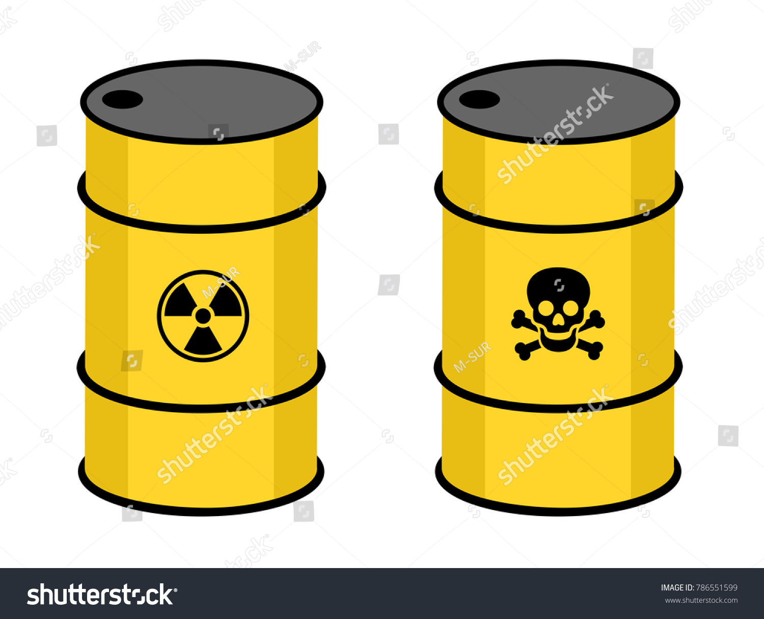 Barrel Radioactive Toxic Substance Symbol Radioactivity Stock Vector