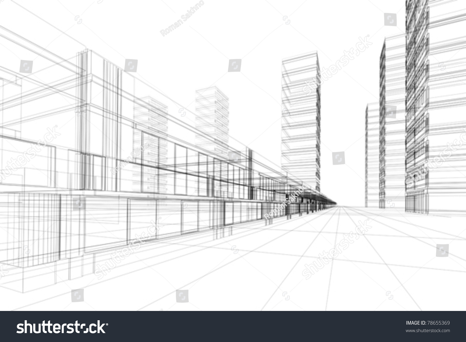 Abstract 3d vector construction office building stock for Notion architecture