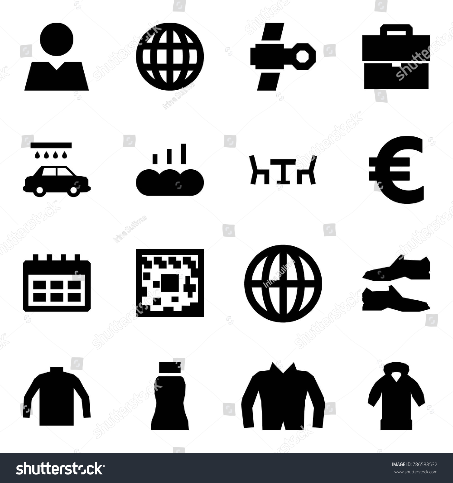 Origami Style Icon Set Consumer Vector Stock Vector Royalty Free