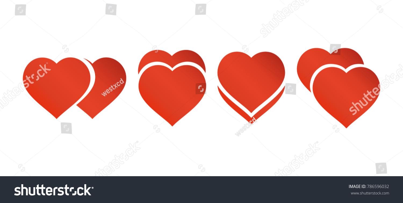 Heart Love Vector Valentine Card Love Stock Vector Royalty Free