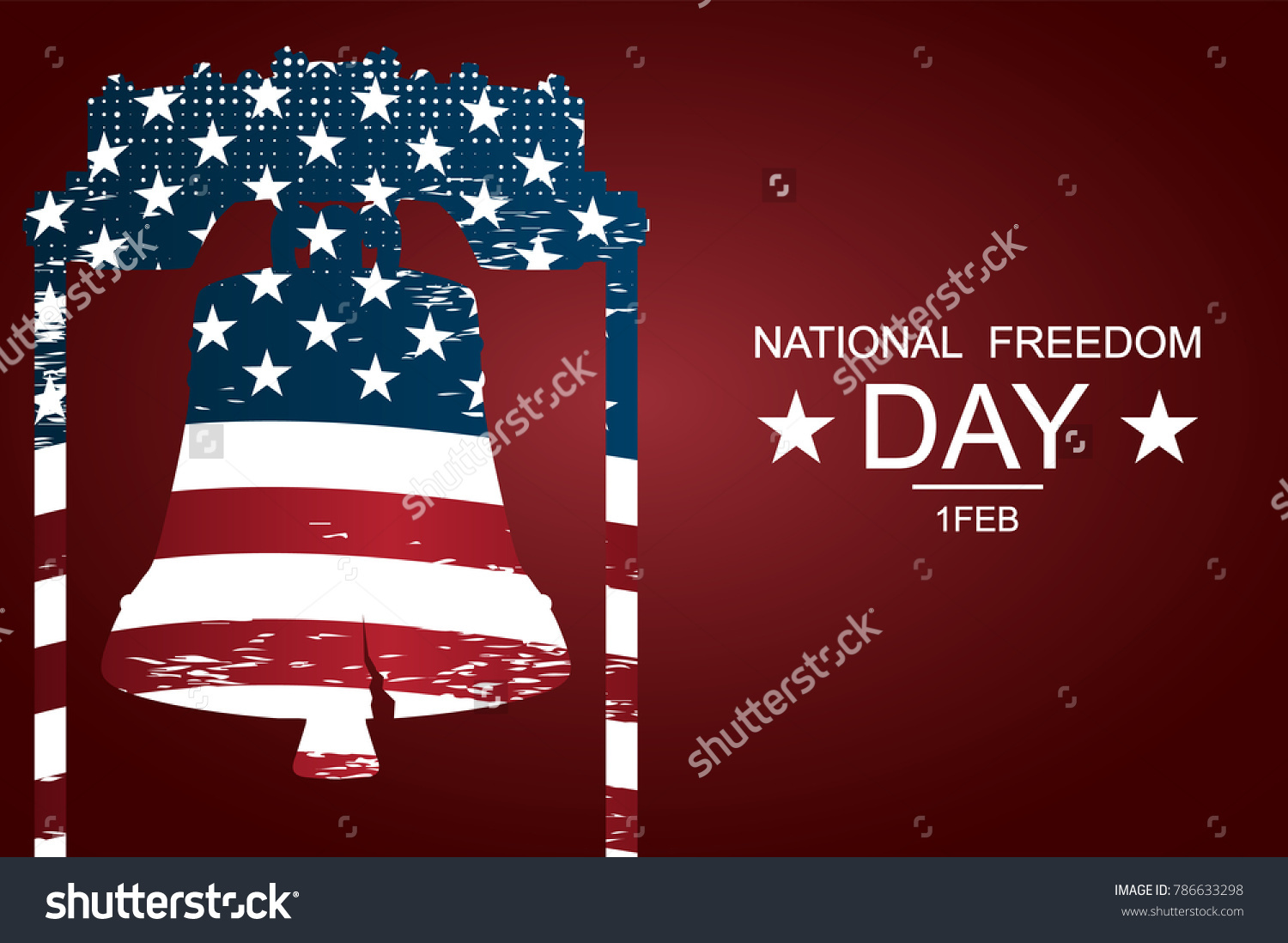 Liberty bell symbols freedom justice national stock vector the liberty bell as symbols of freedom and justice for national freedom day poster or biocorpaavc Images