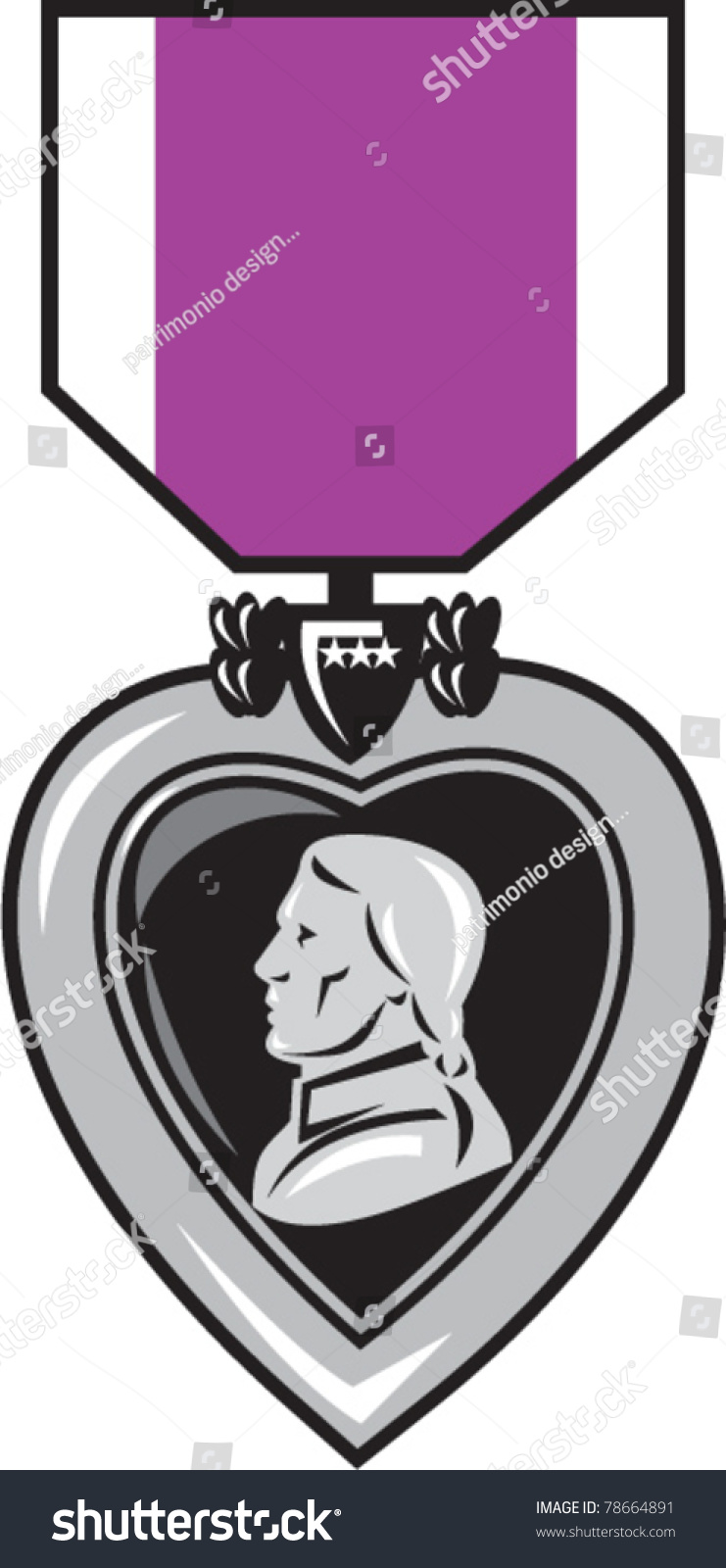 Illustration Of A Military Medal Of Bravery, Honor And ...