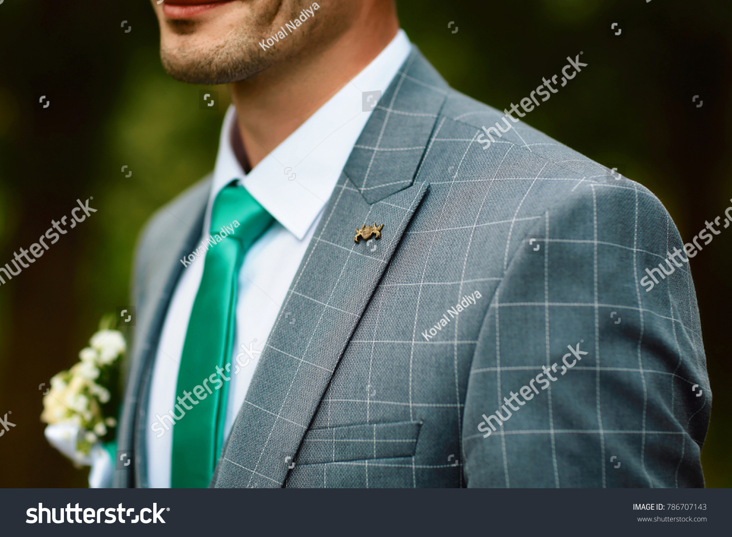 Grooms Morning Preparation Handsome Groom Getting Stock Photo ...