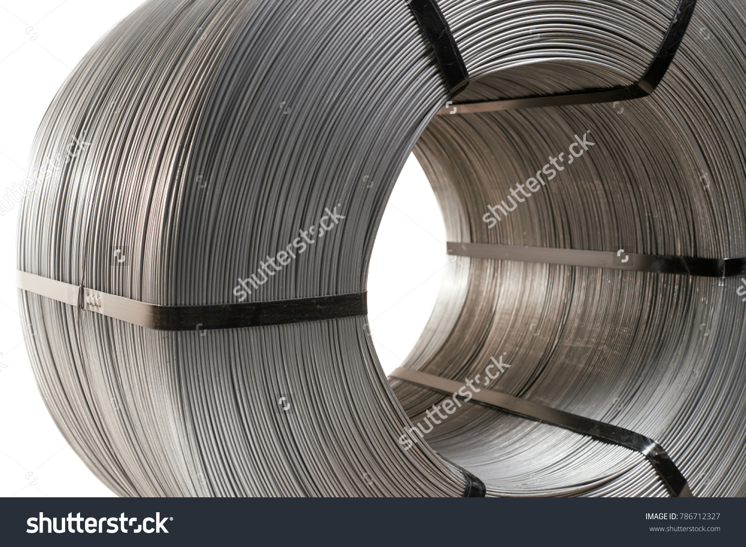 Steel Wire Coil Closeup Stock Photo & Image (Royalty-Free) 786712327 ...