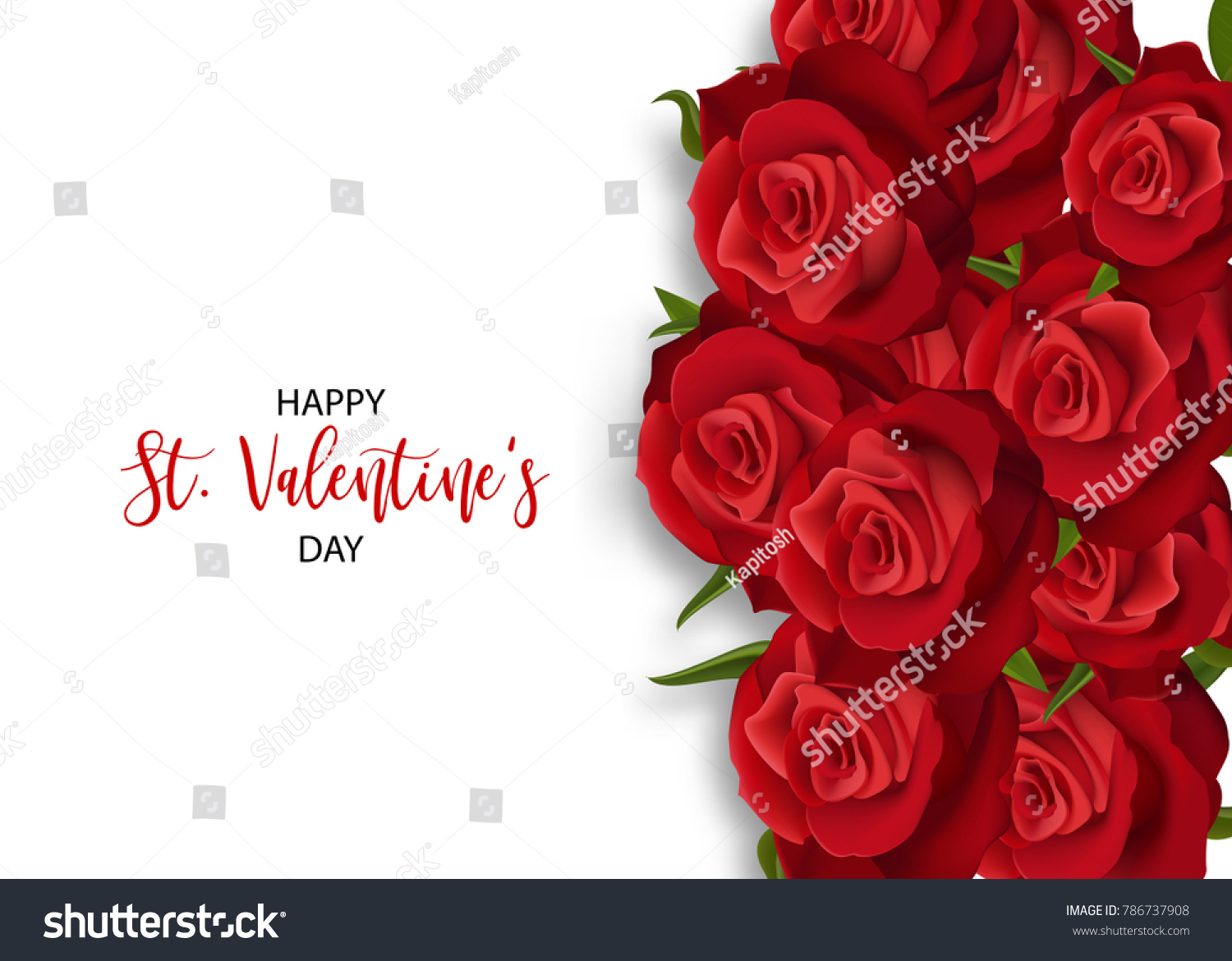 Love flower bouquet valentines banner frame stock vector royalty love flower bouquet valentines banner frame beautiful holiday roses blossom invitation vector colored illustration izmirmasajfo